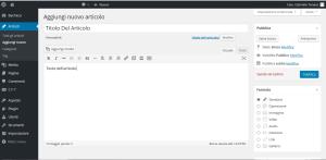 aggiungi nuovo articolo al blog wordpress